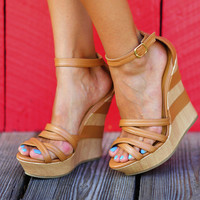 Back In Trouble Wedges: Light Brown | Hope's