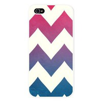 Into the Blue - Ombre Navy & Pink Chevron - iPhone 5 Case