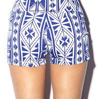 High-Waisted Southwestern Shorts | FOREVER 21 - 2000051353