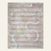 Sequins and Lace  Blank Sheet Music 10 Stave Personalized Letterhead from Zazzle.com