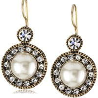 Azaara &quot;Crystal&quot; Alexandra Pearl Earrings