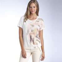 Printed Short-Sleeved Round Neck T-Shirt