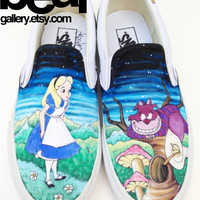 Custom Vans- Alice in Wonderland