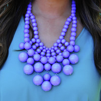 Big Bold Bubble Necklace: Pastel Purple | Hope's