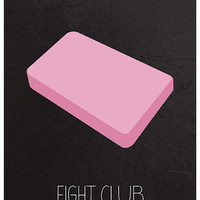 Fight Club minimalist film poster print | Calm The Ham