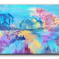 Amazon.com: DiaNoche Designs FREE SHIPPING Canvas Wall Art Home Decor Ideas - Somewhere in Dreamland: Arts, Crafts & Sewing