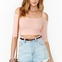 Made To Stray Crop Top - Peach