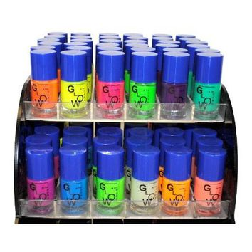 12 Color Glow In The Dark Nail Lacquer Nail Polish Combo Set + Scented Nail Polish Remover
