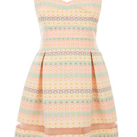 Rebecca Fluro Stripe Skater Dress