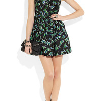 Miu Miu Printed silk-faille mini dress – 64% at THE OUTNET.COM