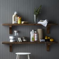 Reclaimed Wood Shelf + Arch Brackets