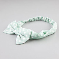 FULL TILT Polka Dot Bow Headband 219989523 | Hair Accessories  | Tillys.com