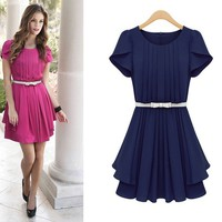 Chiffon dress in summer