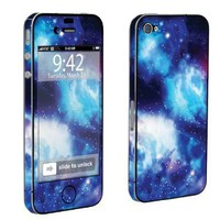 Amazon.com: Apple iPhone 4 or 4s Full Body Vinyl Decal Sticker Skin Blue Space By Skinguardz: Cell Phones & Accessories