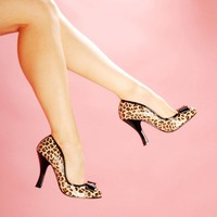 """Smitten"" Pump in Cheetah Print from Pinup Couture Shoes 