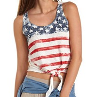 Tie-Front American Flag Tank: Charlotte Russe