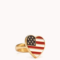 Star-Spangled Heart Ring | FOREVER 21 - 1060371507