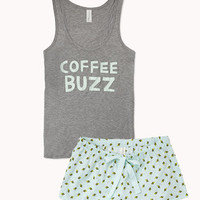 Coffee Buzz PJ Set | FOREVER 21 - 2073291387