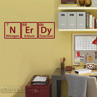 NErDy Periodic Word  33 - Vinyl Wall Art - FREE Shipping - Fun Periodic Table Decal