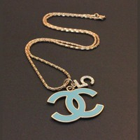 Succubus Fashion Classic Logo Multicolor Double C Sweater Chain
