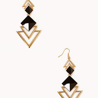 Cutout Triangle Earrings