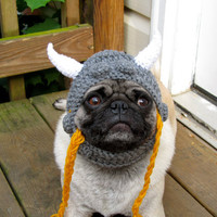 Dog Hat - Viking Warrior Hat/Made To Order- As seen in moderndog Magazine