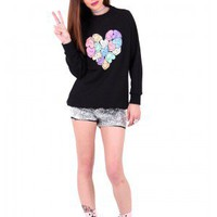 Nawty Candy Hearts Sweater - Everland Clothing