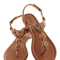 Woods and Wildflowers Sandal in Brown | Mod Retro Vintage Sandals | ModCloth.com