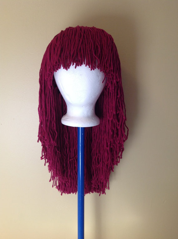 Crochet Hair Wig : Handmade Crochet yarn Hair wig,women, from SueStitch on Etsy