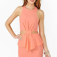Nasty Gal Hot Spell Peplum Dress