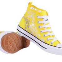 Lace canvas shoes