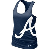 Nike Women's Atlanta Braves Navy Racerback Tank Top - Dick's Sporting Goods