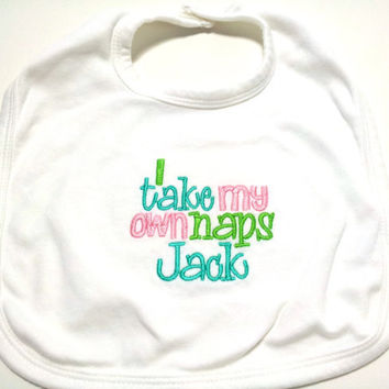 Baby Bib Duck Dynasty Inspired Boy or Girl Made to Order Embroidered