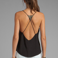 Ladakh Studded Heart Cami in Black from REVOLVEclothing.com