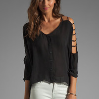Parker Nutmeg Top in Black from REVOLVEclothing.com