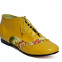 Ankle Shoe / Yellow floral by MuchaMuchachaDesign on Etsy