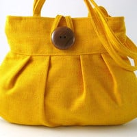Small and sexy yellow  handmade purse bag by daphnenen on Etsy