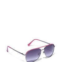 Colorful Aviator Sunglasses by Vince Camuto. Shop online for the ultra-feminine, retro-inspired, designer sunglasses with thin, pink metallic frames for women. COLORFUL AVIATOR SUNGLASSES
