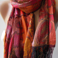 Mothers Day gift Elegant and classy scarf - 100% Silk - Shawl / Scarf  Super quality Scarf Shawl