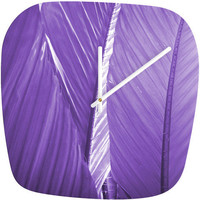 DENY Designs Home Accessories | Rosie Brown Purple Palms Modern Clock