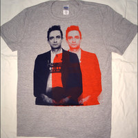 3D Johnny Cash Mens Heather Gray Tshirt