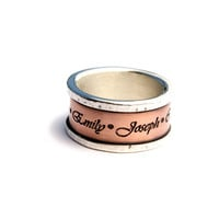 Custom Mothers Ring by Asymmetry on Etsy
