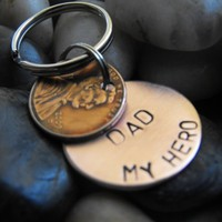 Hero copper Key chain with lucky penny | Patsdesign - Accessories on ArtFire