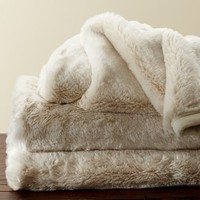 Faux Fur Throw - Ivory