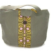 Purse Olive Green Recycled Denim Tote | kathisewnsew - Bags & Purses on ArtFire