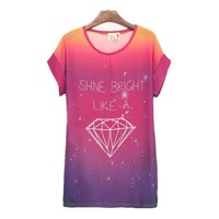 Diamond Galaxy Loose T-shirt