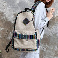 National wind lace backpack
