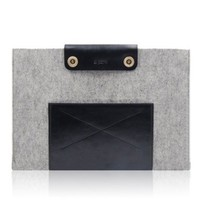 NEW D-park woolfelt sleeve for MacBook Pro 13'(Leo) grey