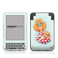 Kindle Keyboard Skin - Inner Tube Girls by Mary Engelbreit
