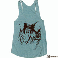 Womens House CAT american apparel Tri-Blend Racerback Tank Top S M L (8 Color Options)